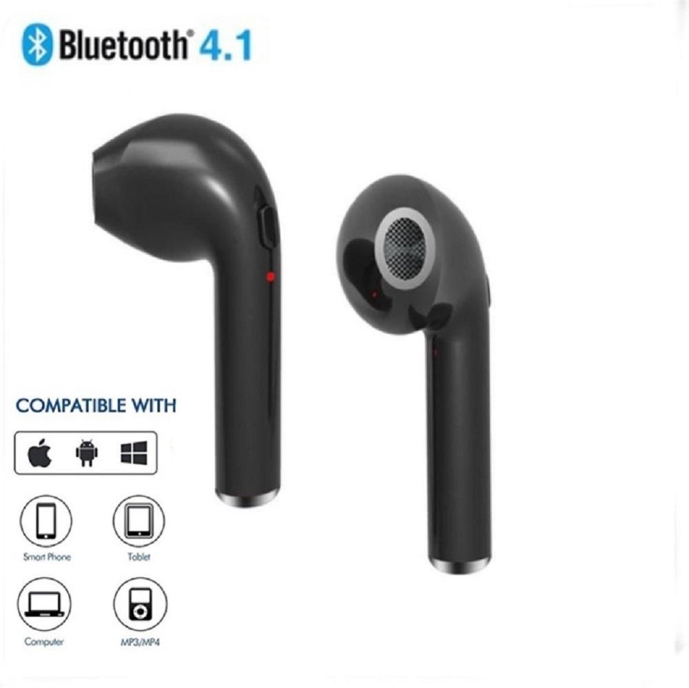 1 Buah Mini Nirkabel Bluetooth 4.1 Earphone Penyumbat Telinga Headset Headphone With Mikrofon Anda Smartphone