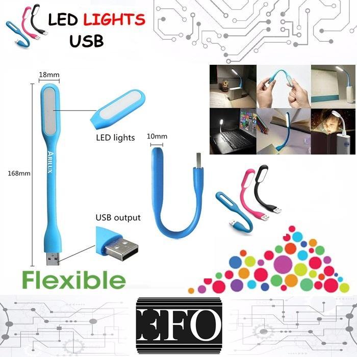 USB LED Light Emergency Flexible Portable Lamp Mini for PC Laptop Power Bank Adapter Charger USB Port