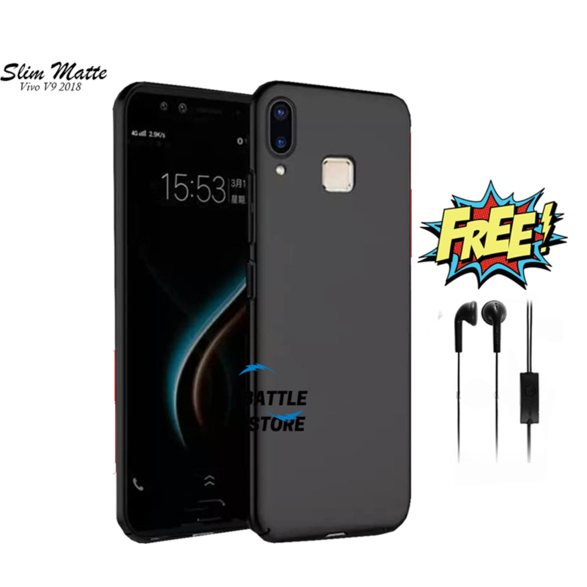 Case Slim Black Matte Vivo V9 V9 Youth Baby Skin Softcase Ultra Thin Jelly Silikon