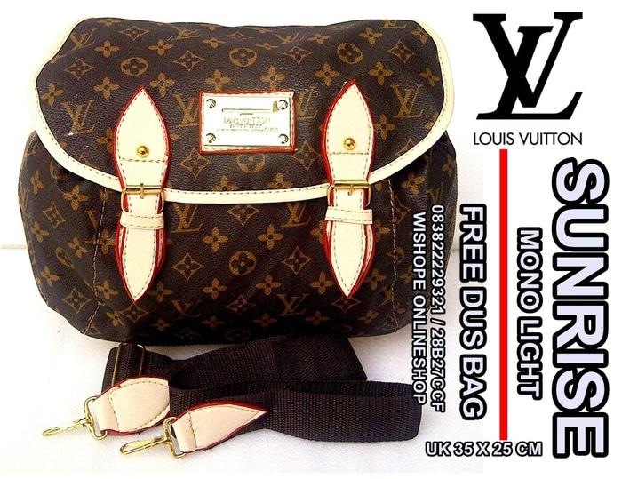 tas wanita selempang lv louis vuitton sunrise free dus bag mono light - jp5EqK