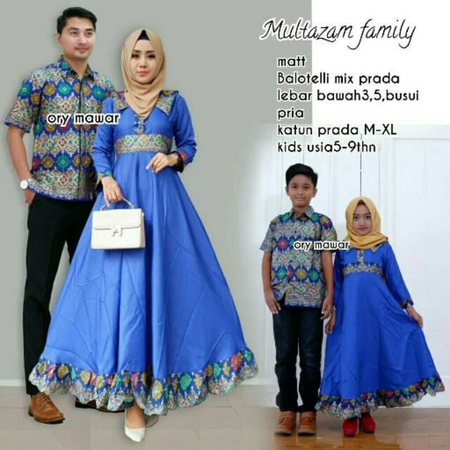 Couple keluarga gamis Muslim Multazam family baju anak Couple anak Couple pasangan grosir baju murah couple family 1
