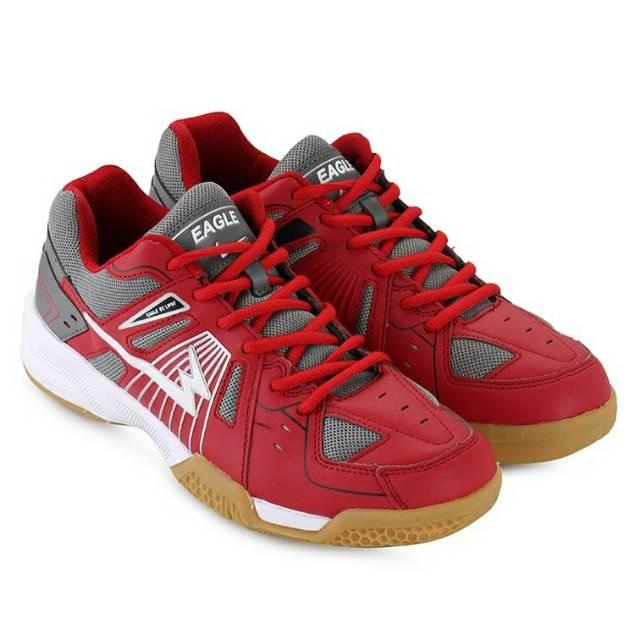 Asli EAGLE ECLIPSE Original. RED. Sepatu Badminton Original. Bulutangkis. Promo Murah