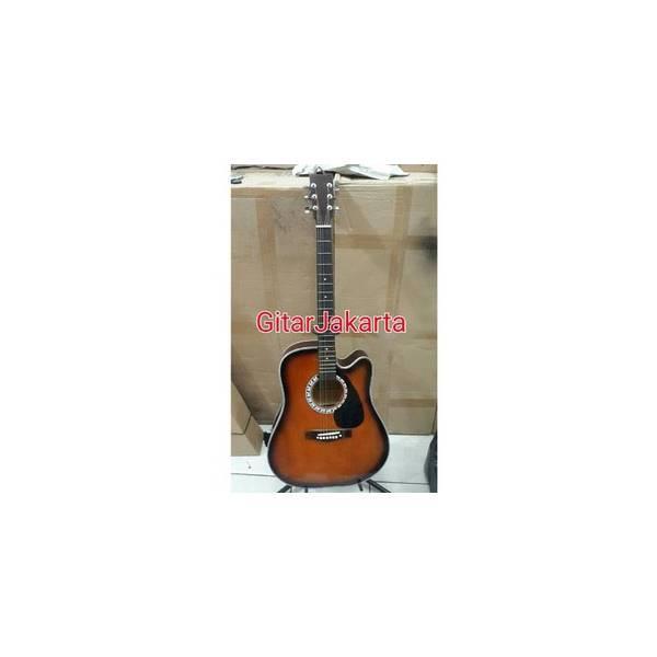 Gitar Akustik Sunburst Murah Merk Yamaha Buat Pemula Bonus Pick