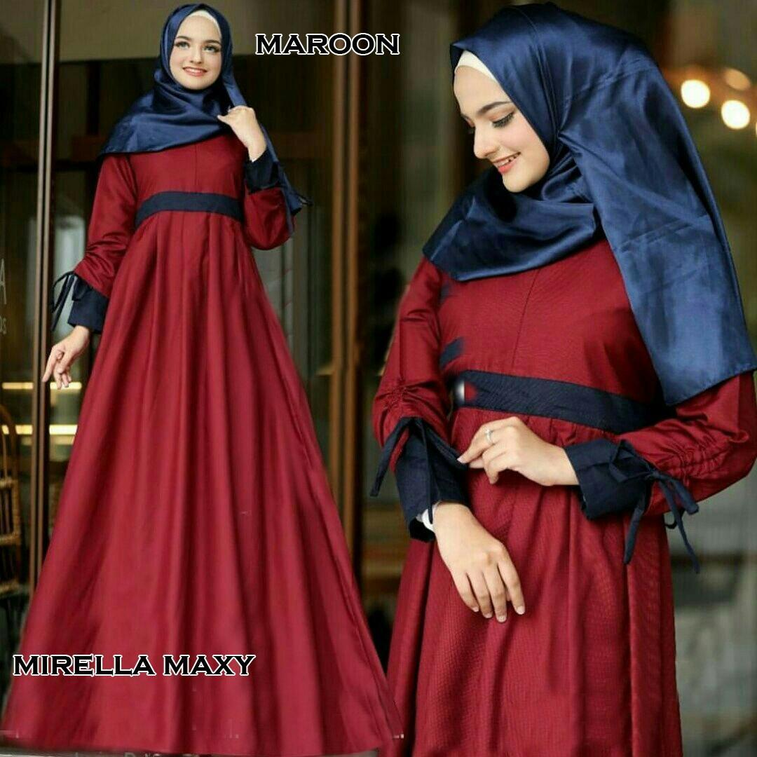 J&C Mirella Maxy / Dress Muslim / Dress Maxi / Maxi Muslim / Setelan Maxi Dress / Setelan Busana Muslim / Setelan Baju Muslim / Baju Gamis Wanita / Setelan Muslim / Hijab Fashion / Hijab Style