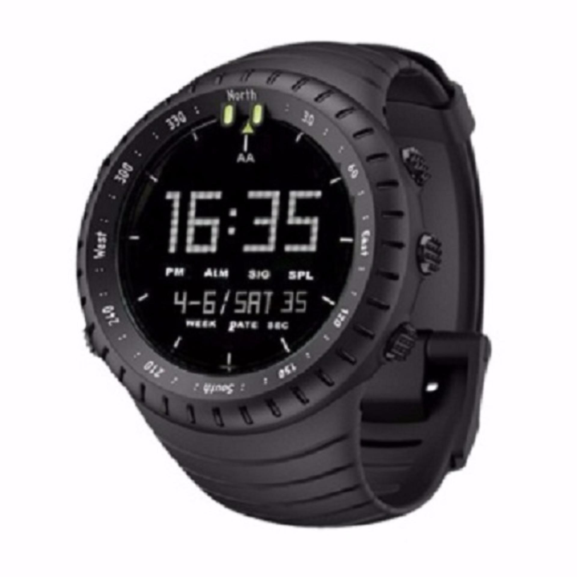 Jam Tangan LED Digital Outdoor Sporty Touring Adventure Water Resistant Tahan Anti Air Kekinian Untuk Anak Pria Wanita Dewasa -  Hitam Premium