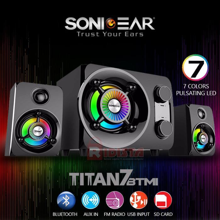 Speaker aktif SONICGEAR TITAN 7 portable  BTMI Ultra BASS (T412)