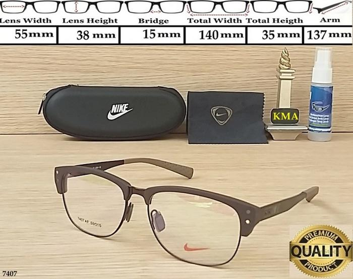 Frame Lensa Kacamata Minus Nike Master 7407 Frame Kacamata Sport New