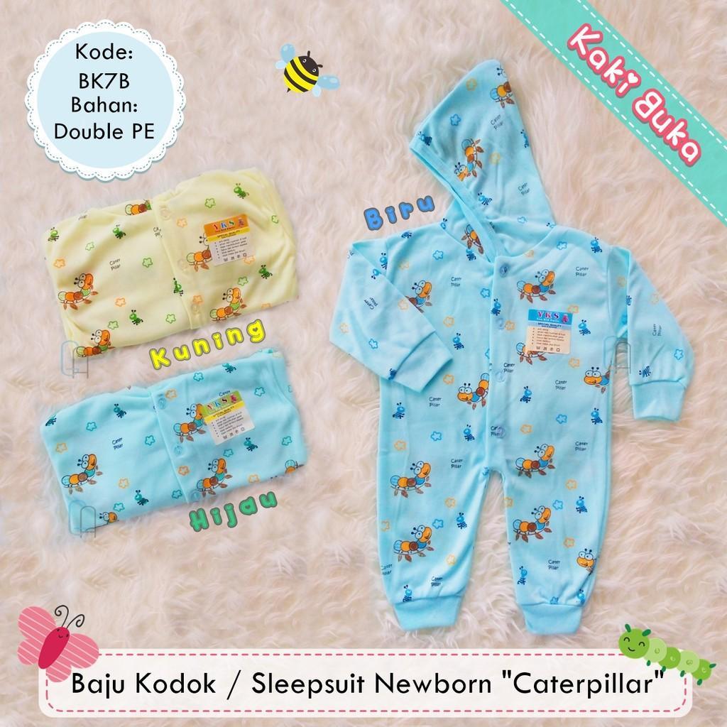 PROMO  Baju Kodok Sleepsuit Jumper Hoodie Bayi Newborn Motif Murah - Kaki Buka  Terbaru