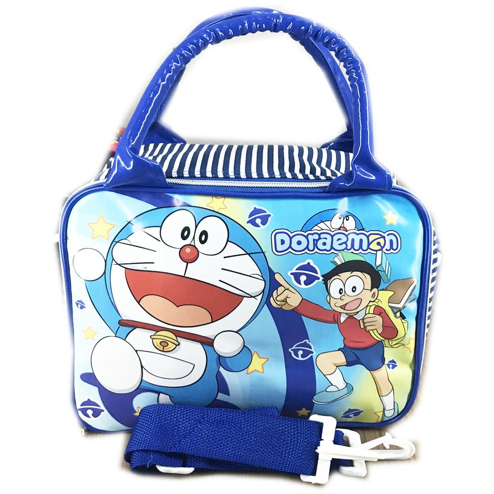 BGC Travel Bag Renang Anti Air Sponlak + Selempang Doraemon ( 29x20x12 )