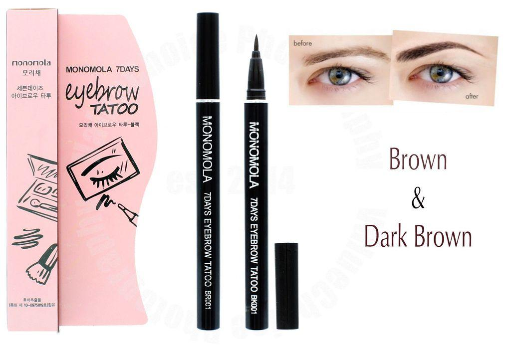 Monomola 7 Days Eyebrow Tatto - Tato Alis - Coklat