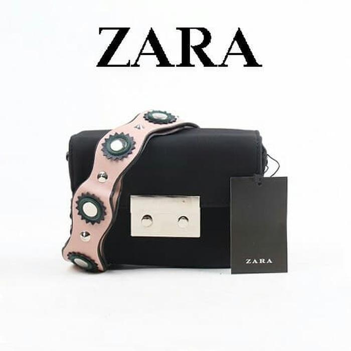 Tas Zara Sling Bag Original - Tas Cross Body 2017 Hitam terbaik - tas selempang import terlaris - tas branded wanita murah