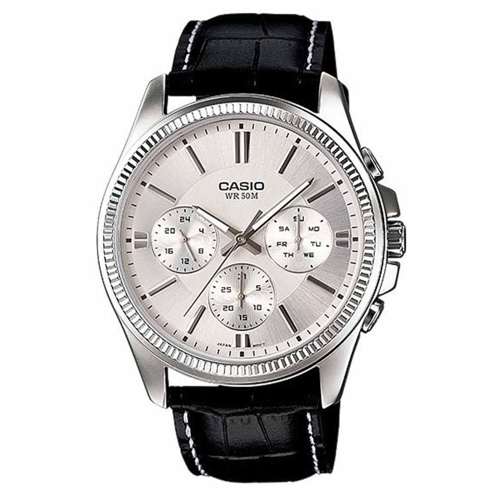 Jam Tangan Pria Casio Standard MTP-1375L-7AV Analog Mens Watch Multi-Hand 50M WR