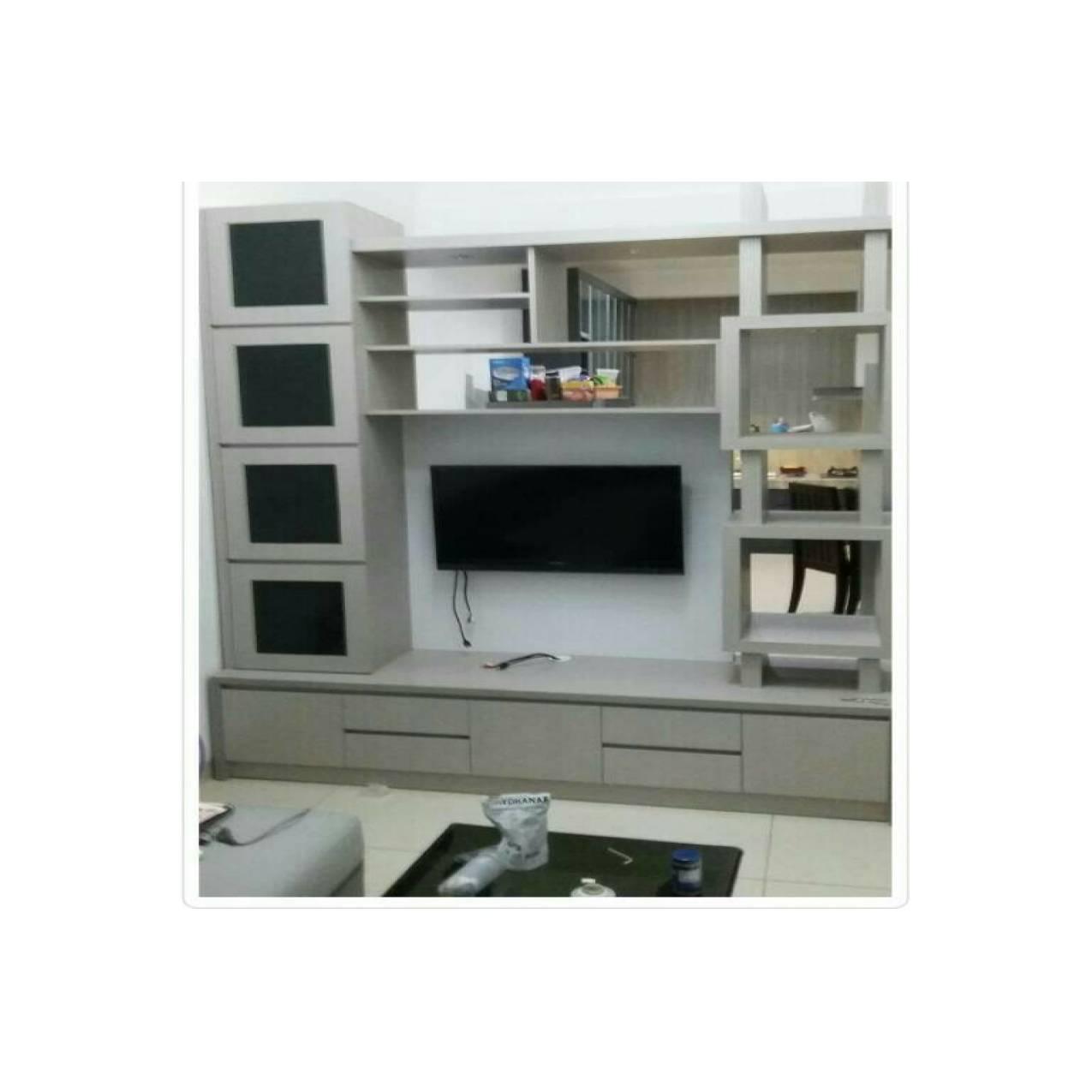 Furniture Custome Rak Tv, lemari TV, Backdrop TV custome 1,