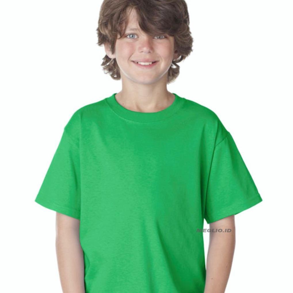 Meglio Kaos Polos Anak Pria / Kids Boy - Hijau