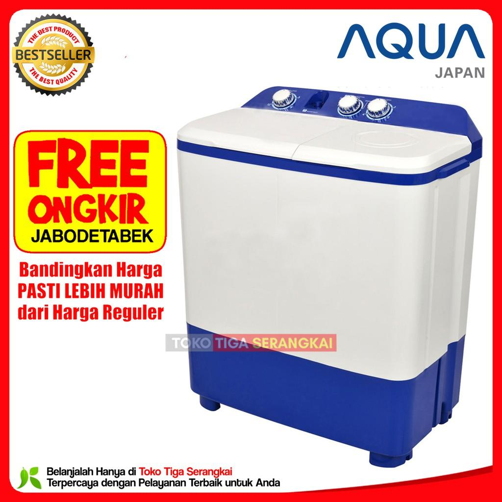 Aqua Mesin Cuci 2 Tabung 8 Kg QW-871XT (Free Onkir Jabodetabek)