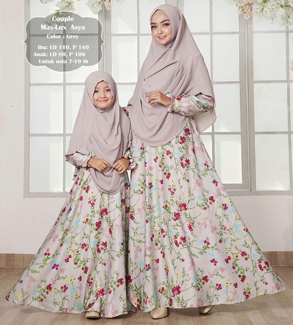 kheinara15 gamis muslim syari maxmara lux asya ibu dan anak couple