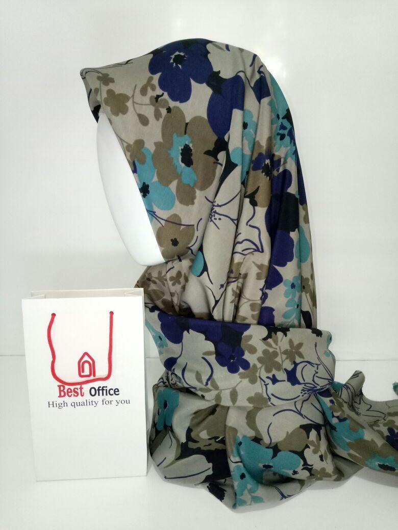 Jilbab Segiempat motif AH0015 Best Office  Hijab  Jilbab  Kerudung