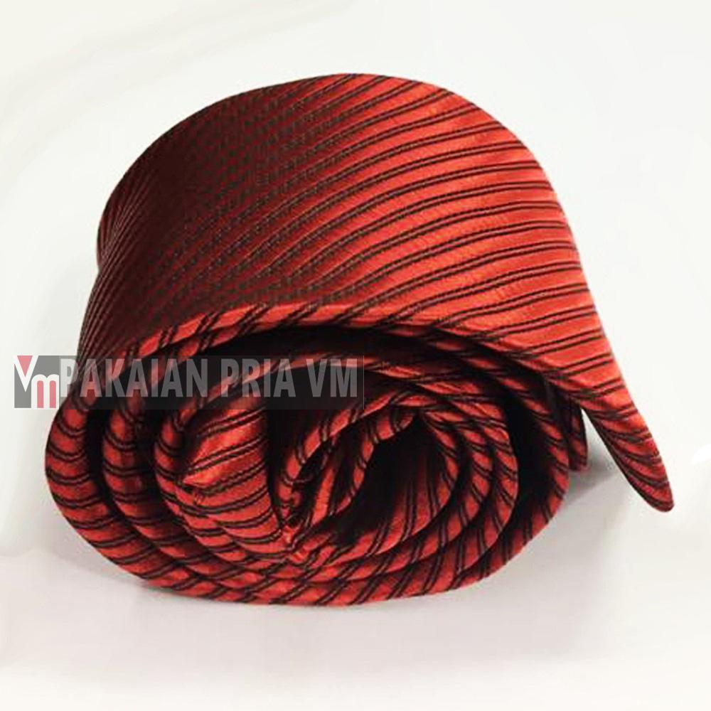 Vm Dasi Polos Slim Merah Maroon Simpul Langsung Jadi Daftar Harga Source · Gambar Produk Rinci VM Dasi Fashion Slim Hitam Terkini
