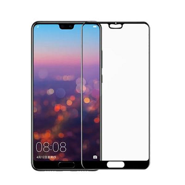 HMC Huawei P20 - 5.8 inch - 2.5D Full Screen Tempered Glass - Lis Hitam