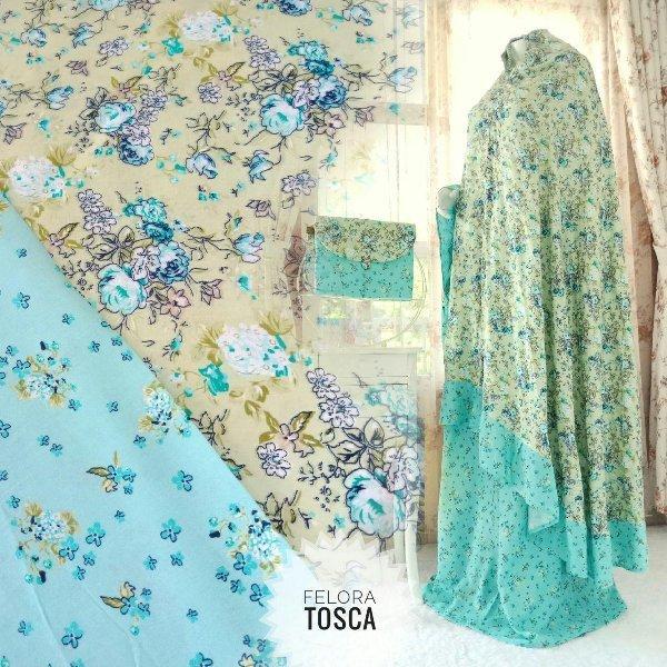Mukena rayon cantik Felora model terbaru adem halus lembut nyaman harga murah grosir laris limited new baru best seller