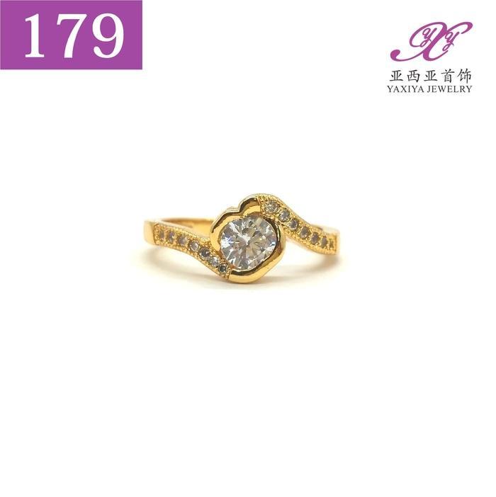 Cincin Lapis Emas Permata Perhiasan Imitasi  Jewelry 179