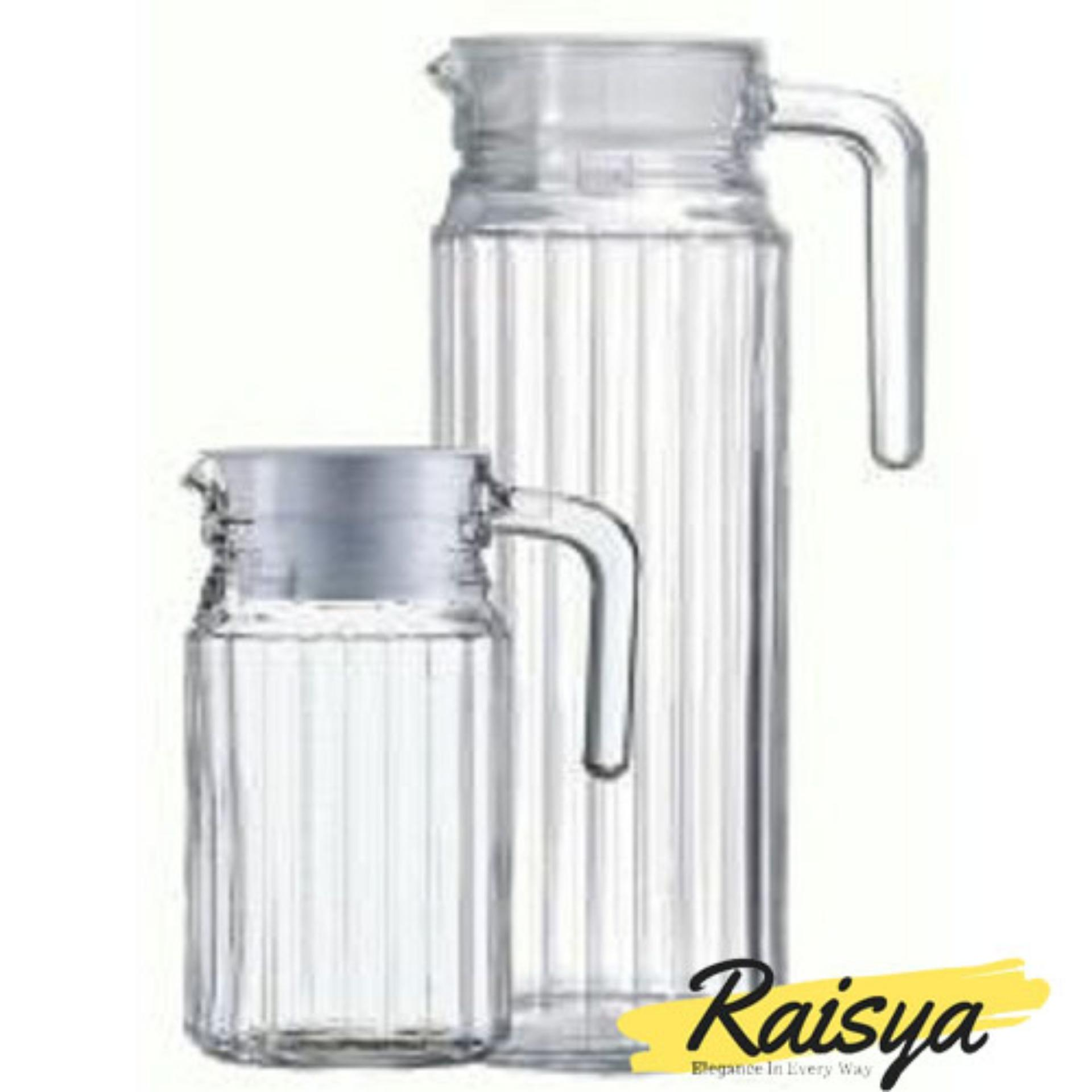 Raisya Pitcher Teko Kaca Luminorc - 2pcs [500m+1000ml]