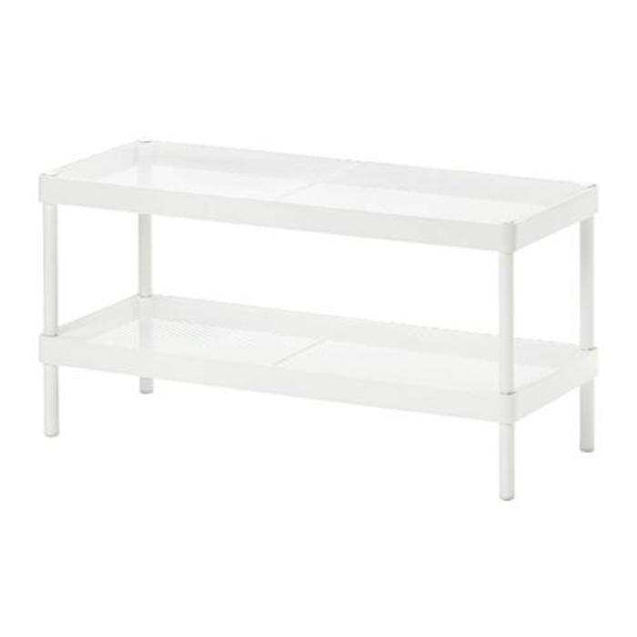 IKEA MACKAPAR Rak Sepatu Lebar 78 cm - Baja lapis epoxy, Putih