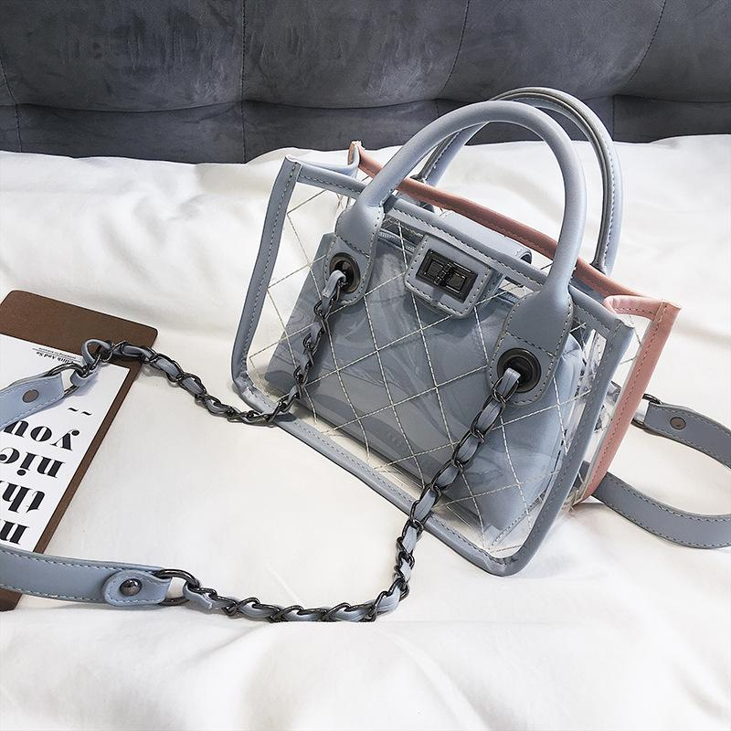 As Transparent Jelly Chain Portable Messenger Bag