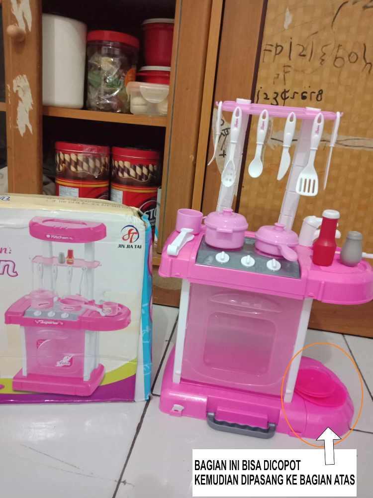 ... KokaPlay Fashion Funny Kitchen Set Luggage Play Set Mainan Anak Perempuan Laki Laki Masak Masakan Koper ...