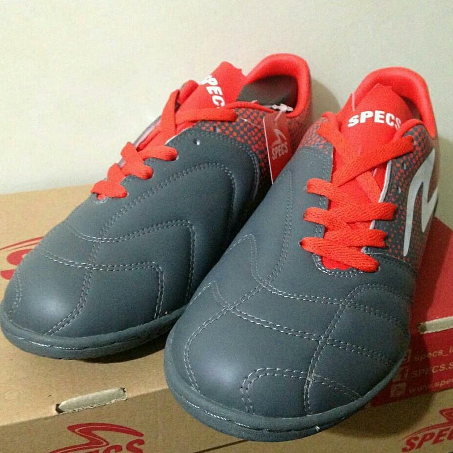 Fitur Sepatu Futsal Specs Equinox In Dark Granite Red 400771 Bnib