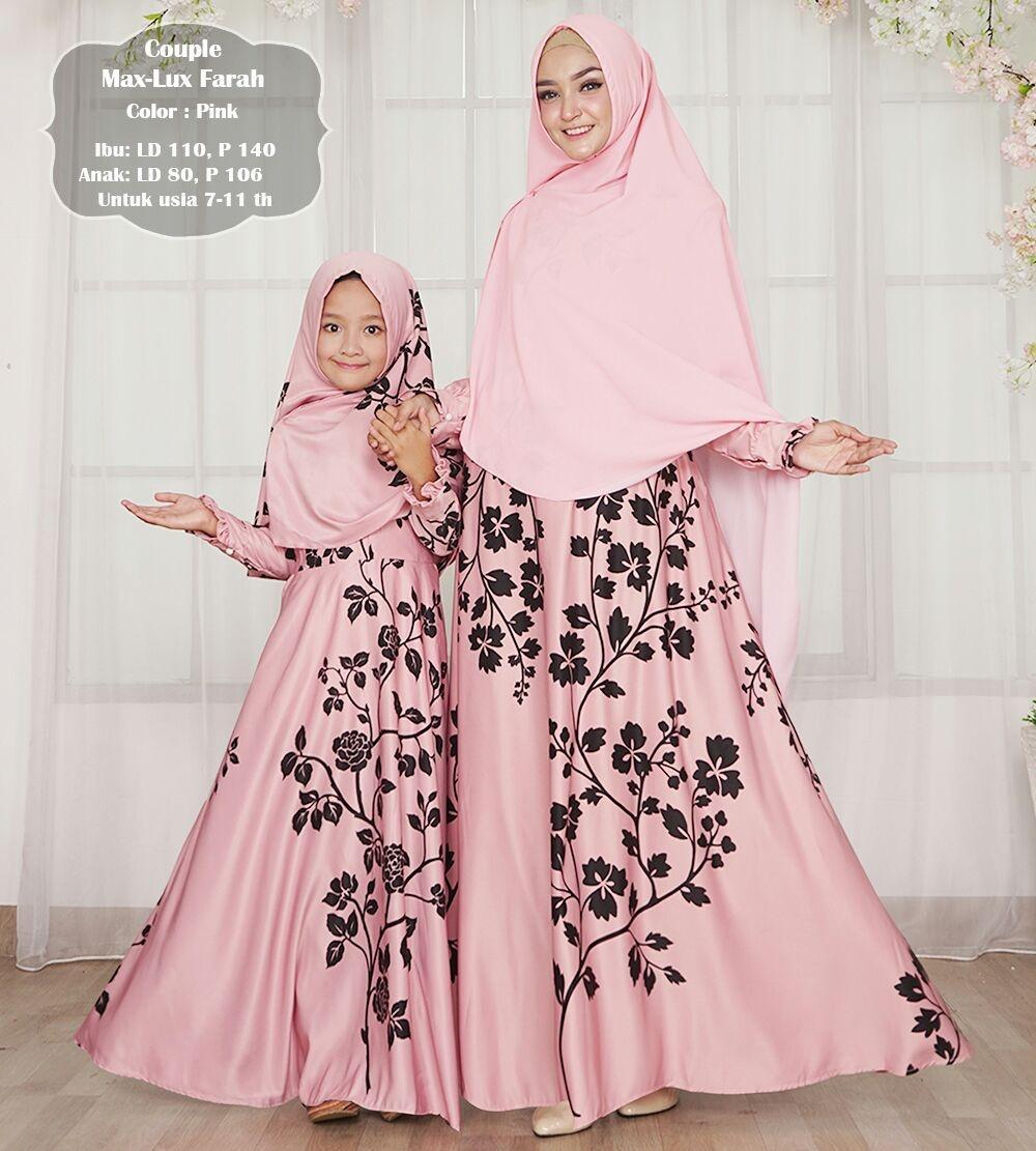 Silentriver88 gamis muslim syar'i maxmara lux farah ibu dan anak coupel