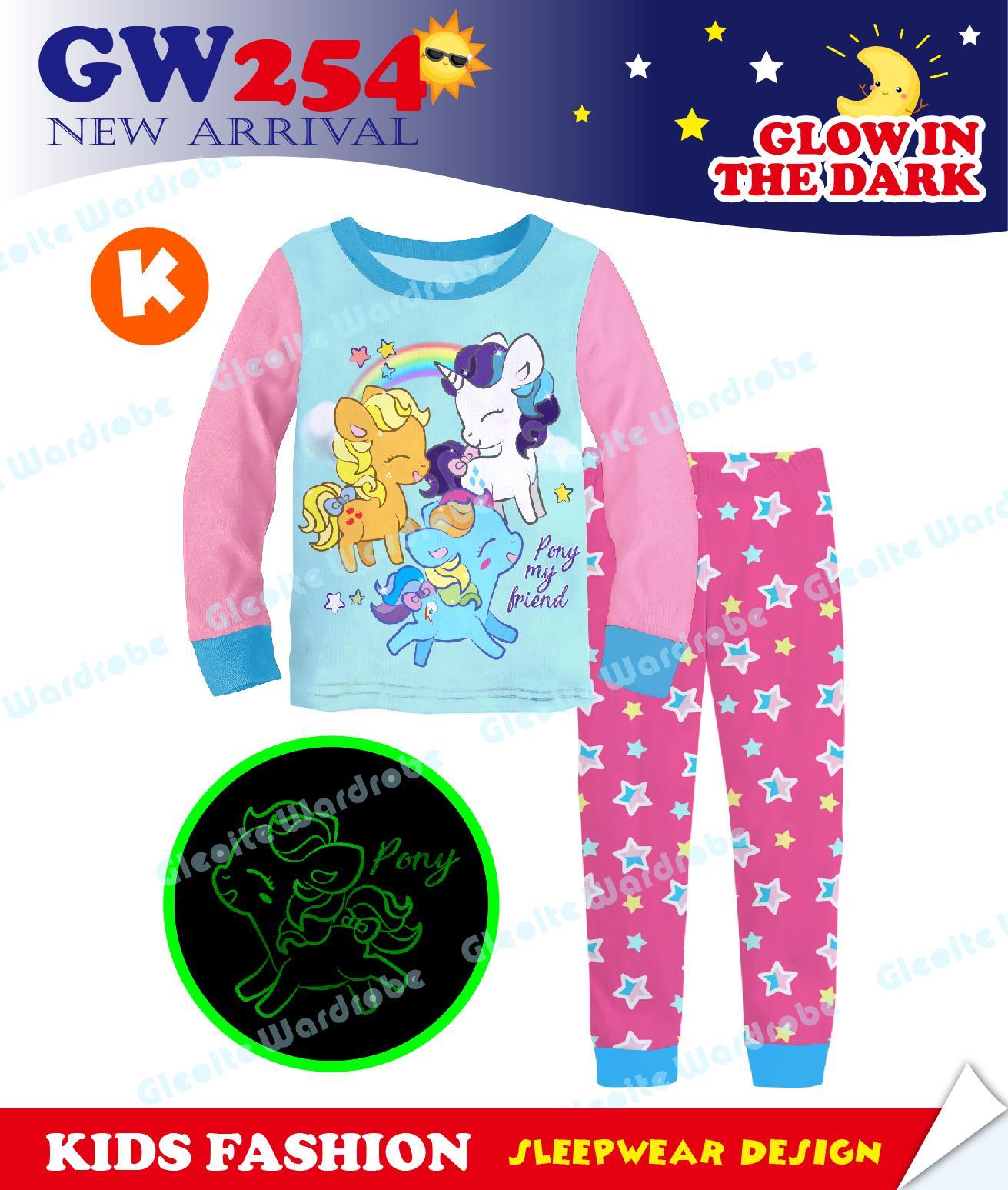 GW254-K - Piyama Anak Glow In The Dark - My Little Pony 95-140