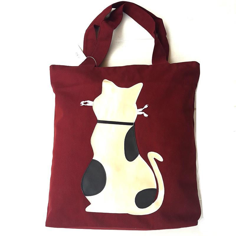 Vienna Linz Tas Wanita Cat Katy Bag Kuliah Sekolah Jalan Fashion Bahan Kanvas