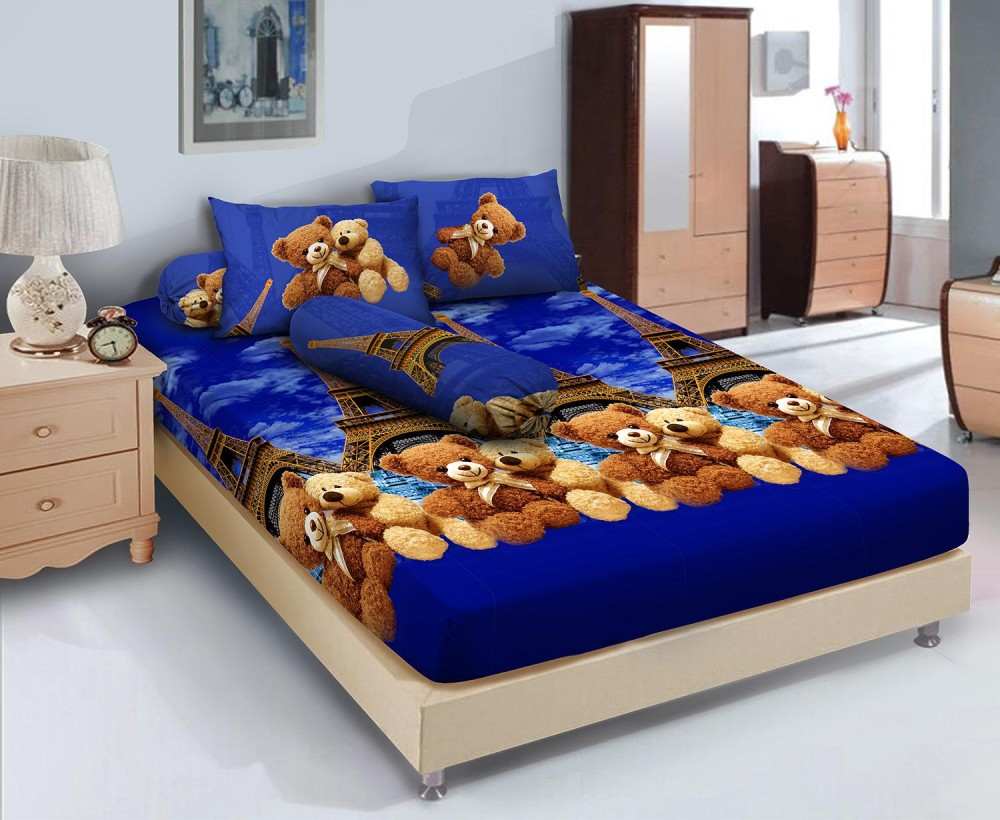 Kehebatan Sprei Kintakun Dluxe 120x200 France Bear Dan Harga Update Single Azaki 120 X 200