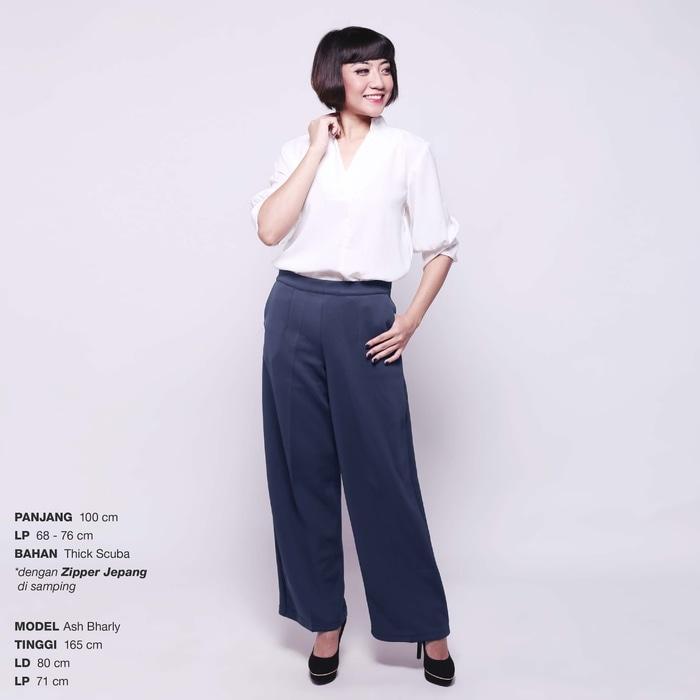 Yoorafashion Celana Panjang Wanita - Premium Long Cullotes Celana Kulot Panjang JP247