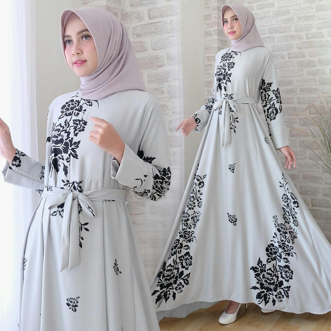 Snowshop Gamis Syari Zeria - Baju Muslim / Fashion Wanita / Baju wanita / Baju Gamis / Busui / Gaun / Maxmara  / XL / Jumbo / Syari