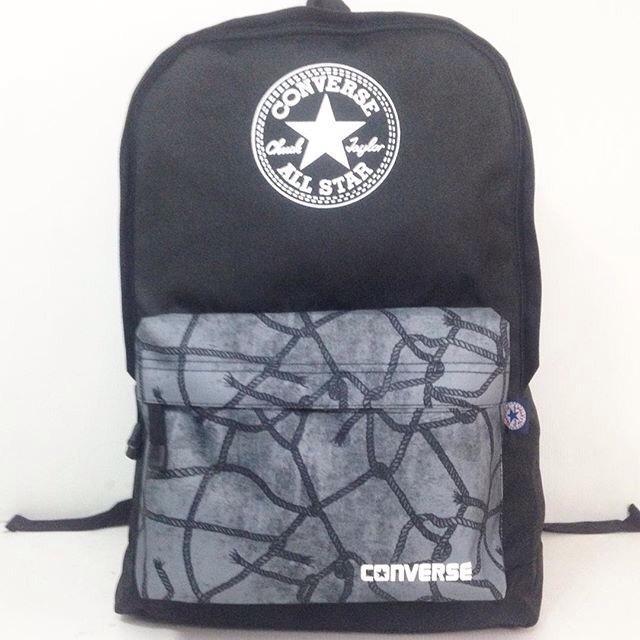 Tas Ransel Converse Corak Chain - Converse - Cowok - Murah - Distro -  Sekolah - Cewek Tas Punggung Backpack Grosir Murah 030e14b2ad