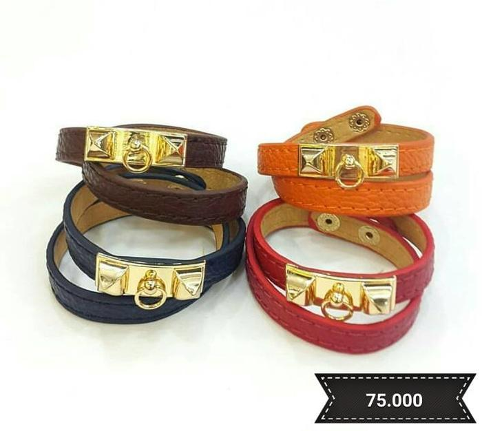 Gelang - CDC Center Hermes 1 Inch Leather Bracelet