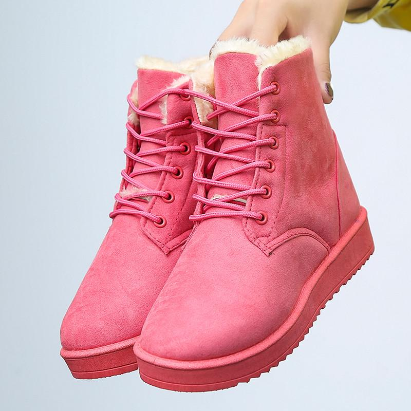 536b4b805378 Autumn   Winter Brushed And Thick Snow Boots Cotton-padded Shoes Short  Boots Women s Shoes