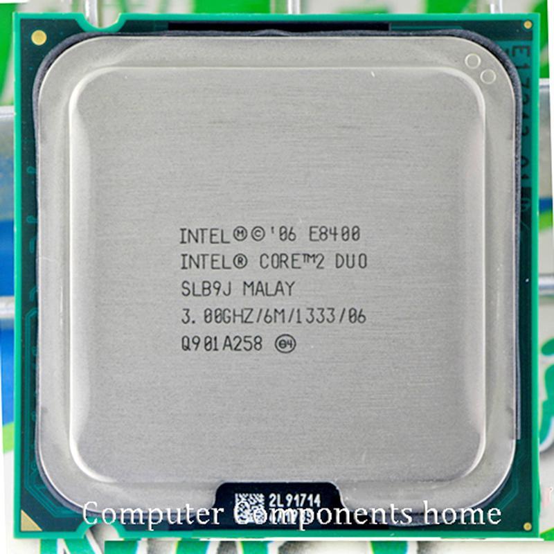 Asli Intel Core 2 Duo E8400 CPU Core 2 Prosesor Duo E8400 (3.0 GHz/6 M/1333 GHz) stopkontak LGA 775-Intl