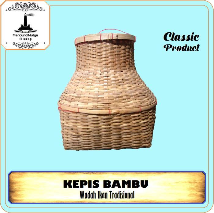 Kepis Kembu / Tempat Ikan- Belut- Kepiting Dari Bambu /Tradisional Dekorasi