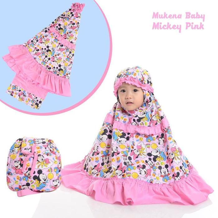 MUKENA BABY MICKEY PINK / PERLENGKAPAN SHOLAT / TELEKUNG / MUKENA / MUKENA ANAK /  MUKENA KARAKTER ANAK / MUKENA ANAK TERMURAH / MUKENA  ANAK BERKUALITAS