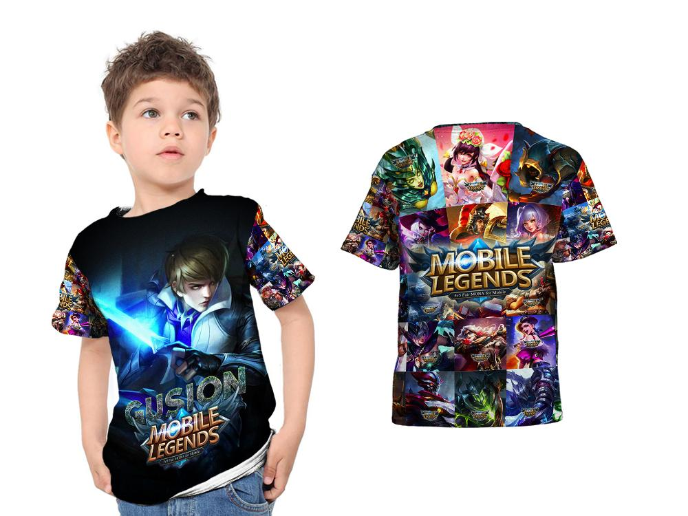 Kaos Baju Anak Fullprint Custom New Mobile Legends Gusion