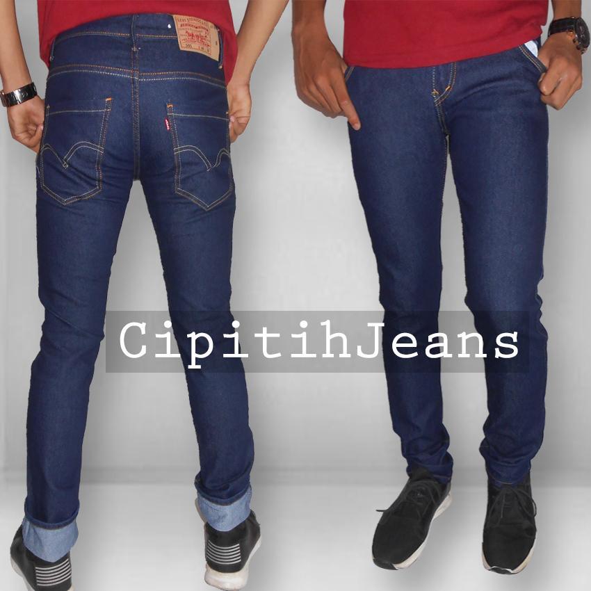 Celana Jeans Pria Skinny Fit Stretch - Navy