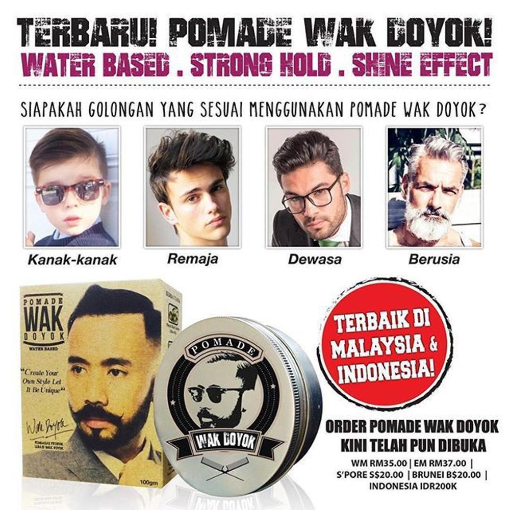 Wak Doyok Pomade 100gr ORIGINAL 100% di lapak JeLo Shop jeloshop