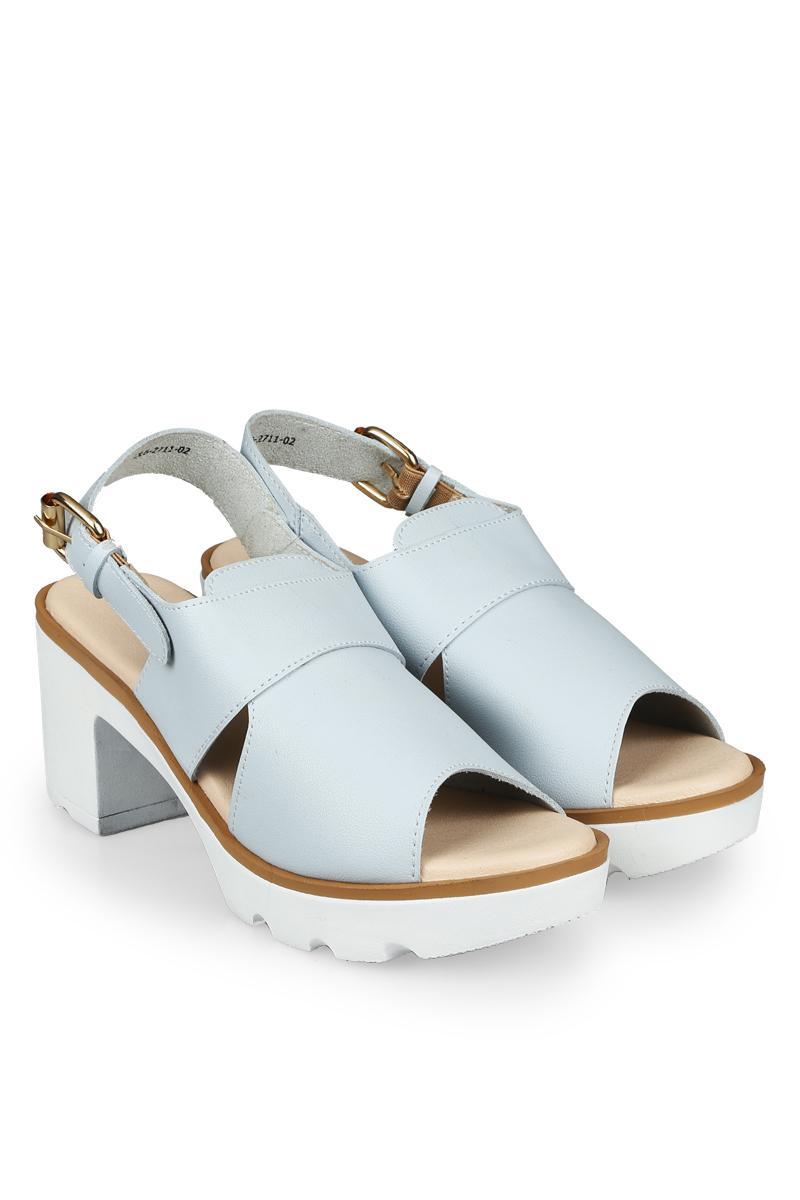 Yongki Komaladi Sepatu Fashion Sandal Heel Wanita Arundaya Light Blue (36)