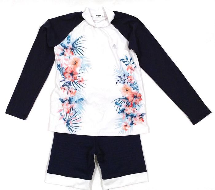 Baju Renang Diving Set Lengan Panjang Renoma Bunga Import Anak Cewe - Zv9OzW
