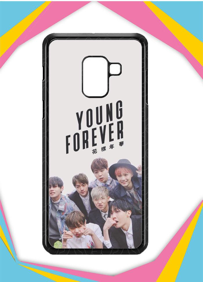 Casing Samsung Galaxy A8 Plus 2018 Custom Hardcase Young Forever BTS O4059 Case Cover