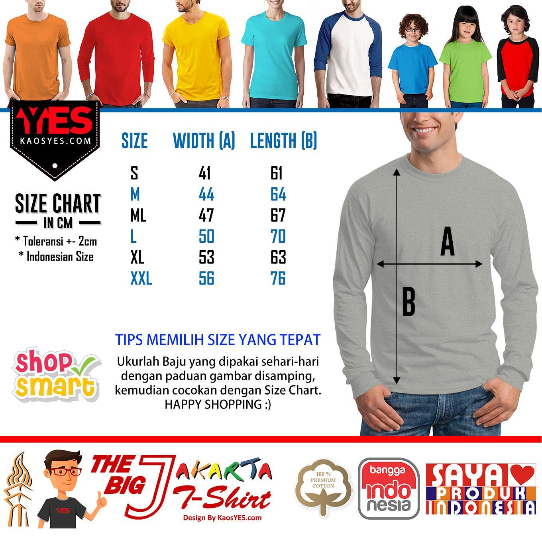 Kaosyes T Shirt Kaos Polos Lengan Panjang The Big J Abu Misty Blue 14 Content
