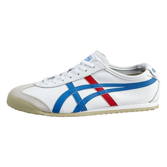 sepatu asics tiger - white blue